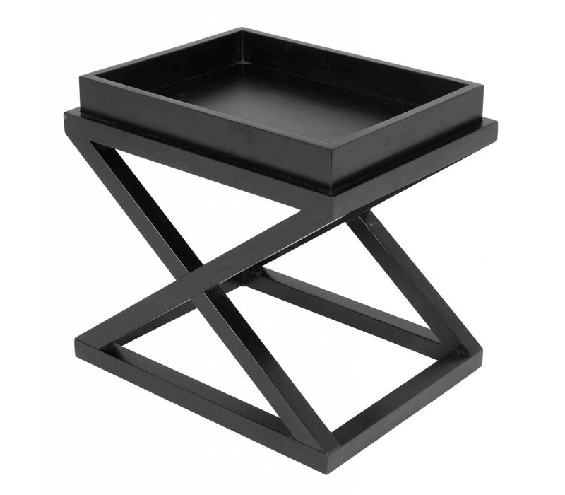 Tablettisch schwarz - Mcarthur 61 x 48 x 57 cm (h)