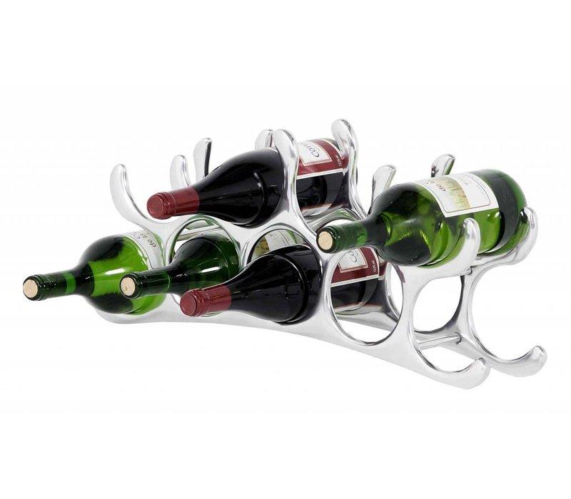 Designer wine rack 'Alboran S' for 9 bottles