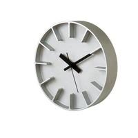 moderne round clock 'Edge' of casted aluminium