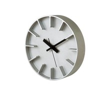 """Moderne runde Uhr """"Edge"""" aus Aluminiumguss in zwei Farben"""