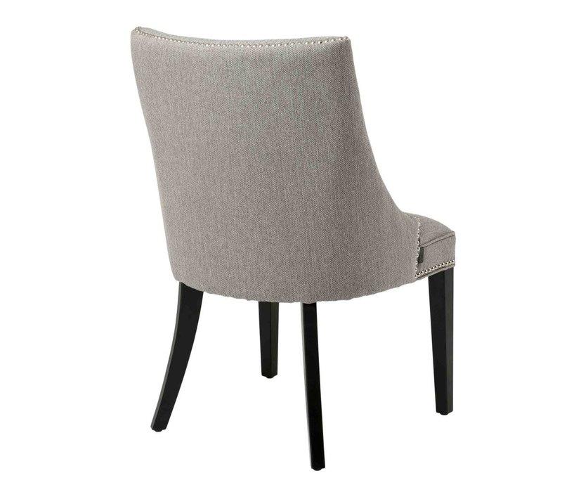 Dining chair - Bermuda Herringbone brown grey