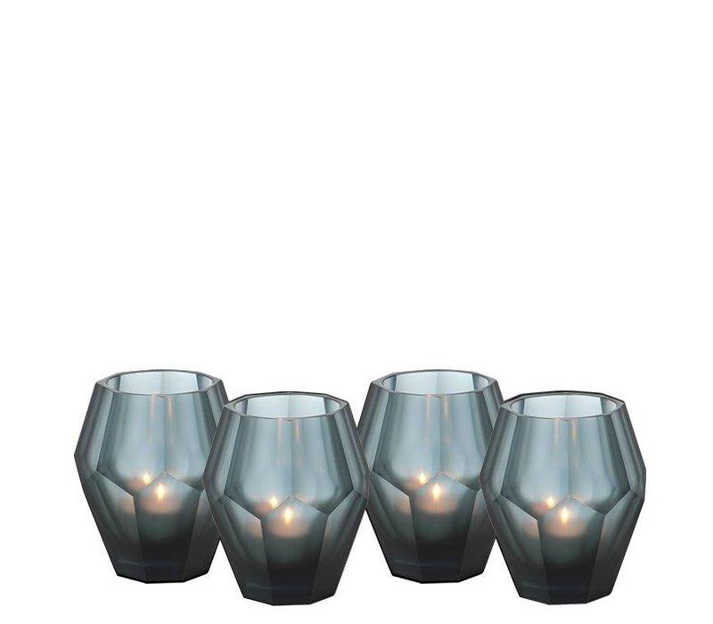 Teelichthalter - Okhto blue S; Set von 2