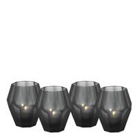 Waxinelichthouders - Okhto black 'S' set van 4