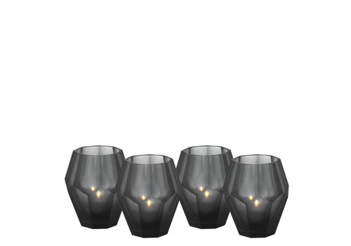 Eichholtz Candle holders - Okhto black 'S'