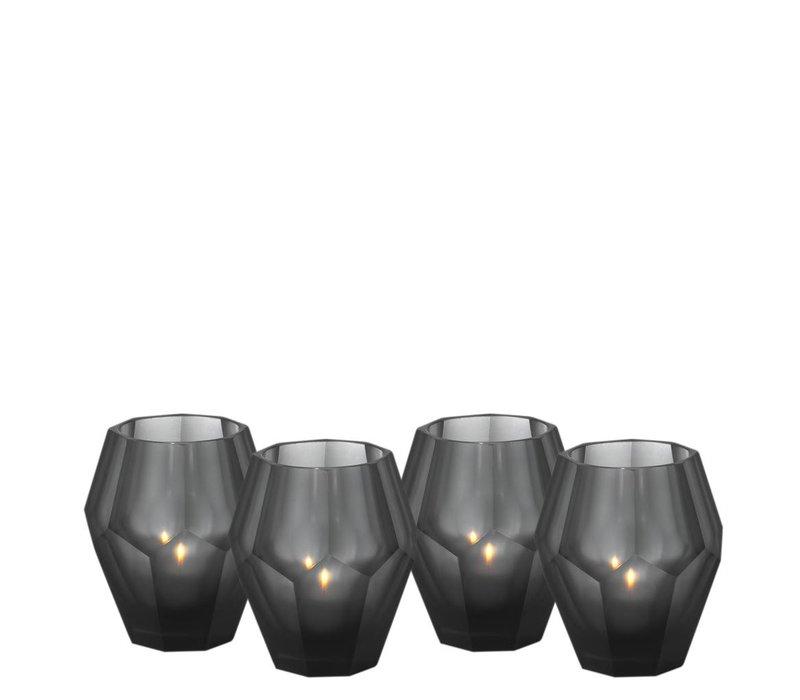 Teelichthalter - Okhto black S; Set von 2