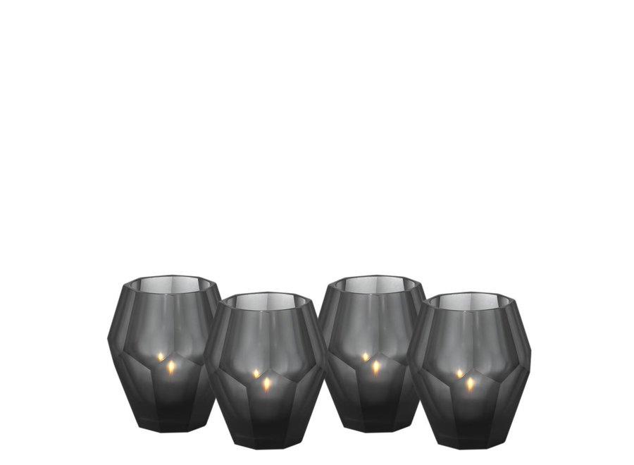 Waxinelichthouders - Okhto black 'S'