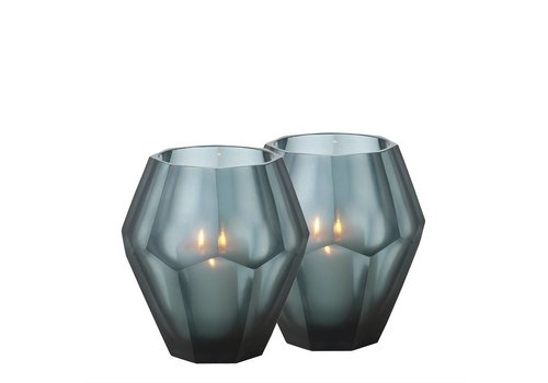 EICHHOLTZ Teelichthalter - Okhto blue L
