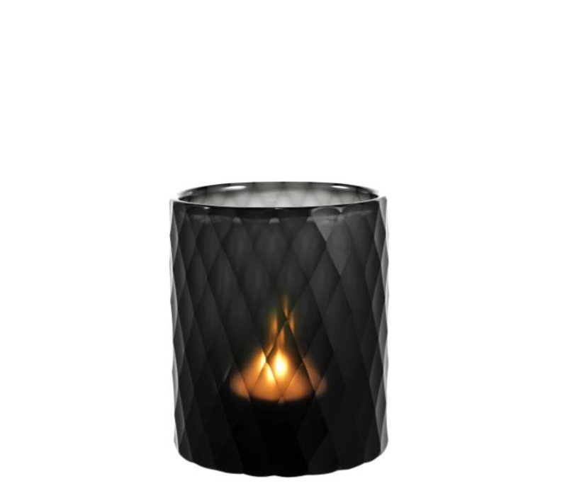Windlicht - Morton L black 13 x 16 cm (h)
