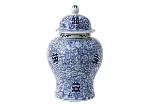 Eichholtz Decoratie vaas - Glamour XL Chinese Blue
