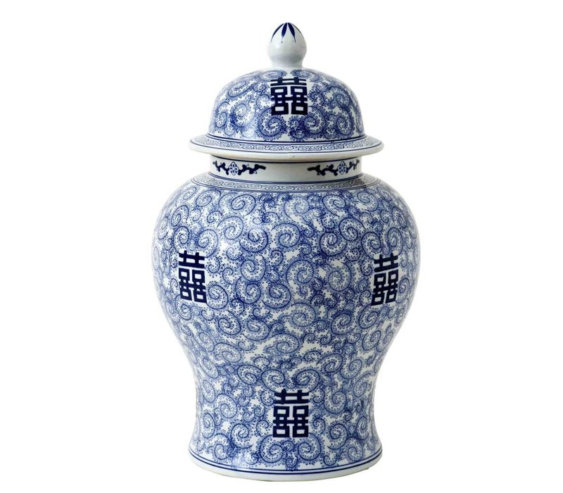 Decoratie vaas Chinese Blue 'Glamour XL' 40 x 67cm (h)