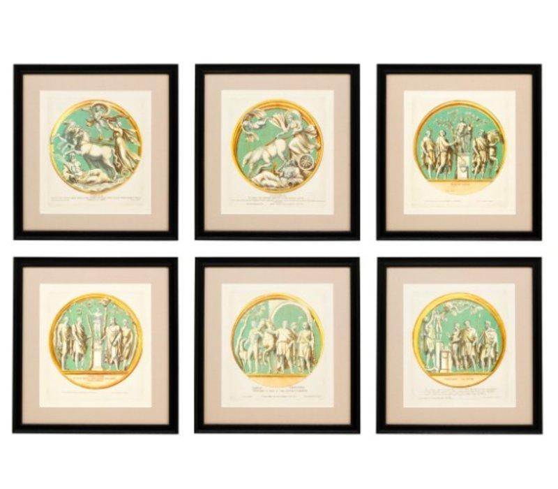 Prints Pietro Santi Bartoli - set of 6