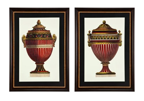 EICHHOLTZ Prints Empire Urns set van 2