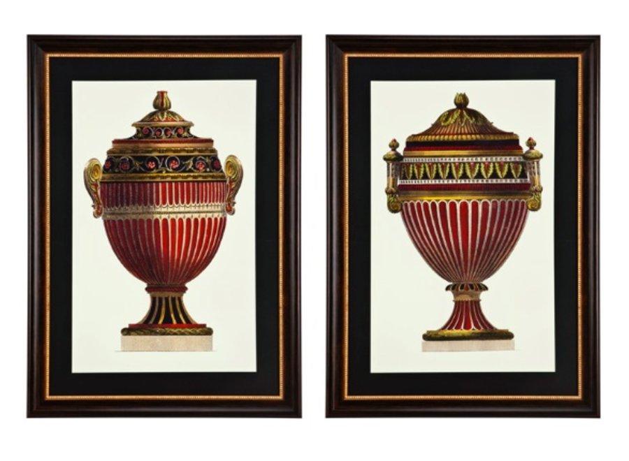Prints Empire Urns set van 2