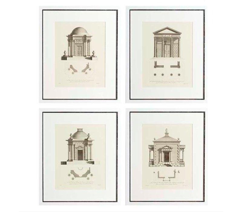 Prints Architecture Set von 4
