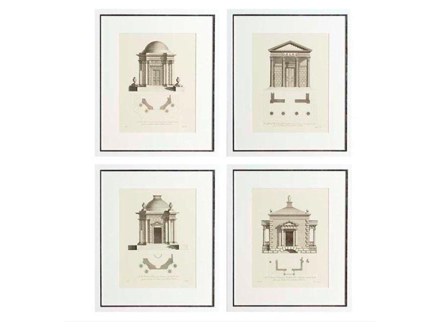 Prints Architecture set van 4