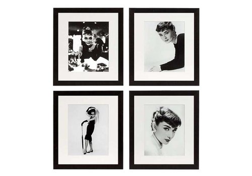 EICHHOLTZ Prints Audrey Hepburn set of 4