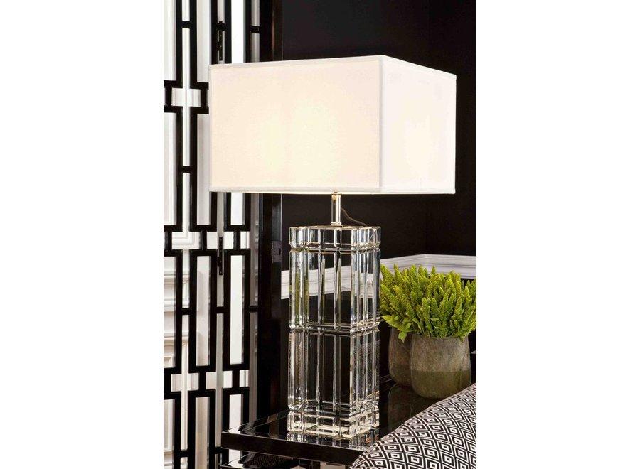 Tafellamp Universal met crème kap, 88,5cm hoog