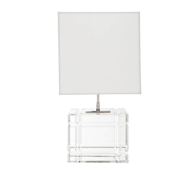 Table lamp 'Academia' crystal glass with a white shade