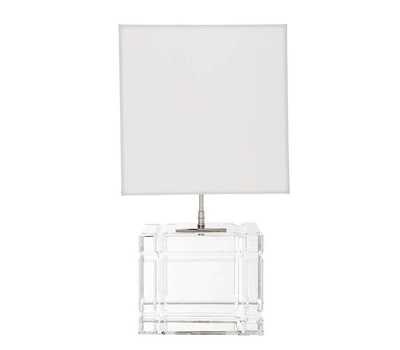 Tafellamp Academia met witte kap, 57cm hoog