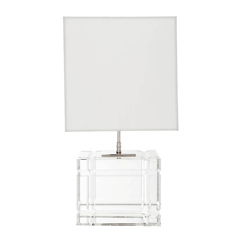 Eichholtz Table Lamp Academia Crystal, Square Glass Table Lamp Base