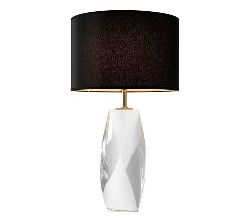 Table lamp 'Titan' crystal glass with a black