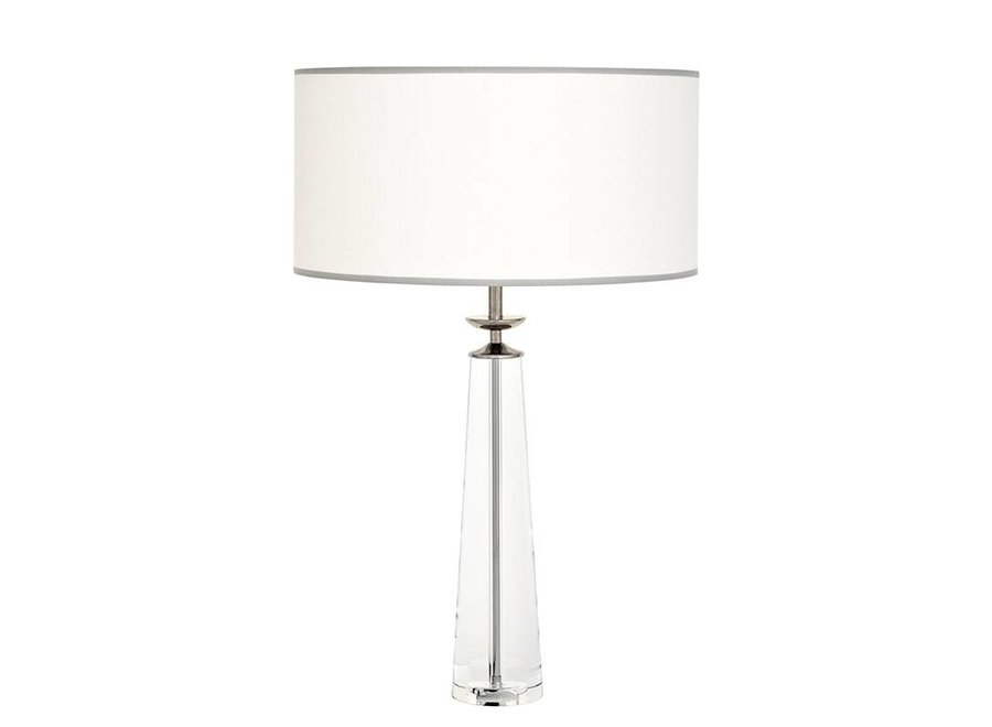 Tafellamp Chaumon met off white ronde kap, 80cm hoog