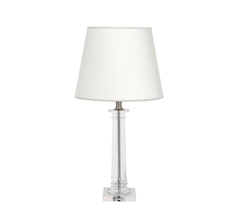 Tafellamp Bulgari met witte kap, 70cm hoog