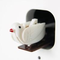 Modern wooden cuckoo clock 'Cucu'