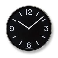 """Moderne runde Wanduhr """"Mono"""" im verspielten Schwarz-weiß-Design"""