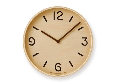 Lemnos wooden wall clock 'Thomson'