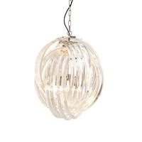 Hanglamp Marco Polo van gebogen helder acryl met een doorsnede van 50cm