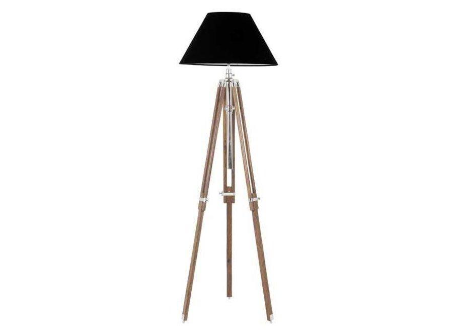 Driepoot lamp 'Telescope' wood
