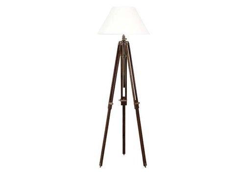 EICHHOLTZ Tripod lamp 'Telescope' wood / brass