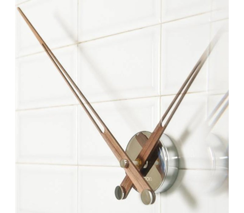 Hands-only wooden design clock, Axioma 74 cm