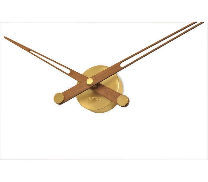 "Holz Wanduhr nur mit Zeigern ""Axioma N - Gold"""