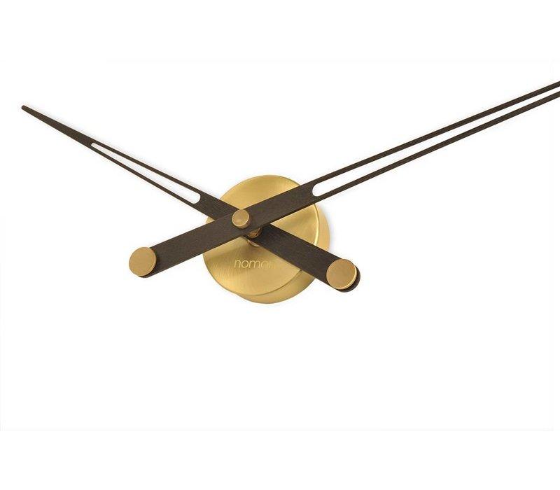 houten klok alleen wijzers 'Axioma N - Gold'