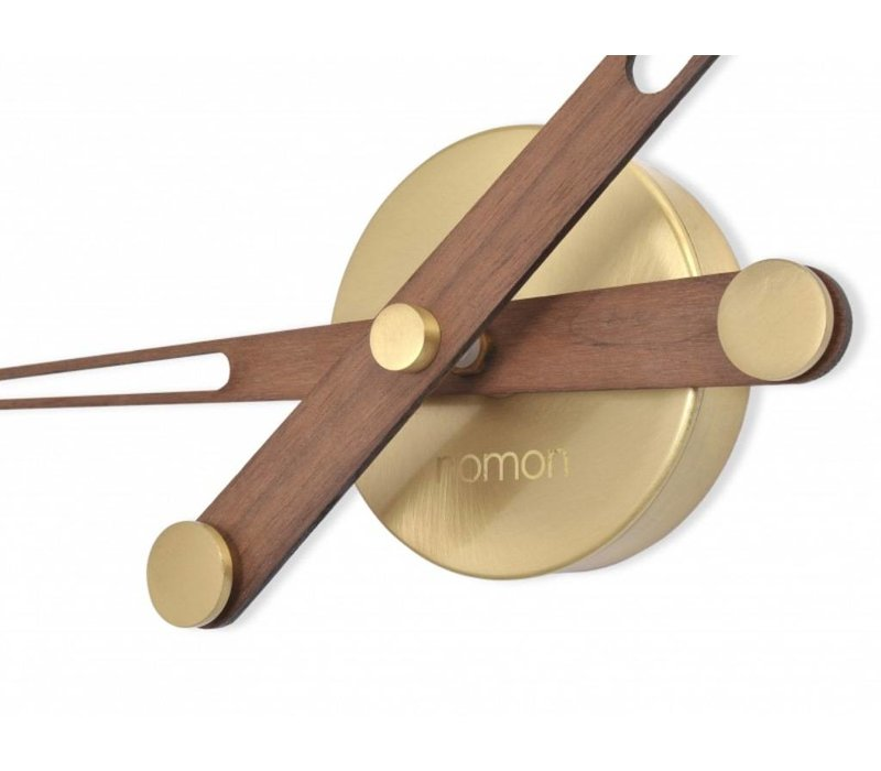 'Axioma N - Gold' wooden hands-only clock