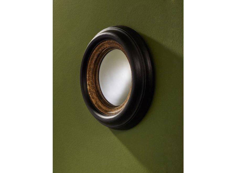ronde design spiegel 'Convex' mini kleur zwart/goud