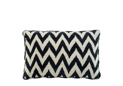 EICHHOLTZ Cushion Chevron black 40 x 60 cm