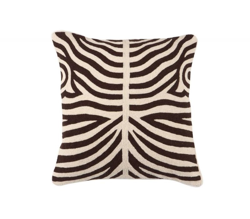 Cushion Zebra color Brown
