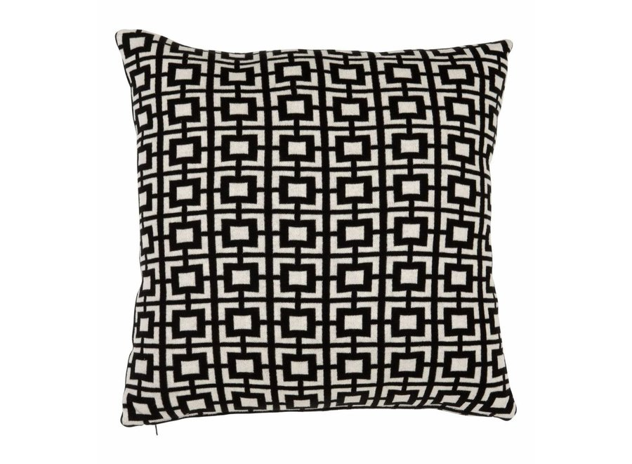 Kussen Abstract Squares Black