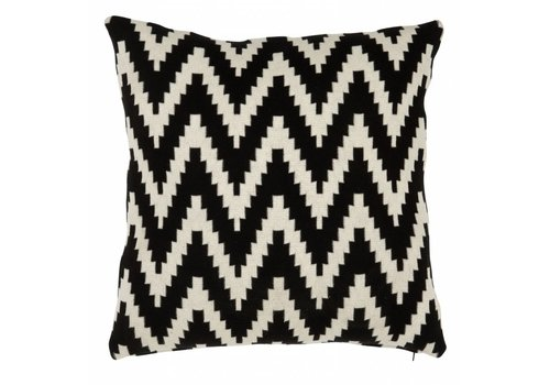 EICHHOLTZ Kussen Abstract Chevron Black