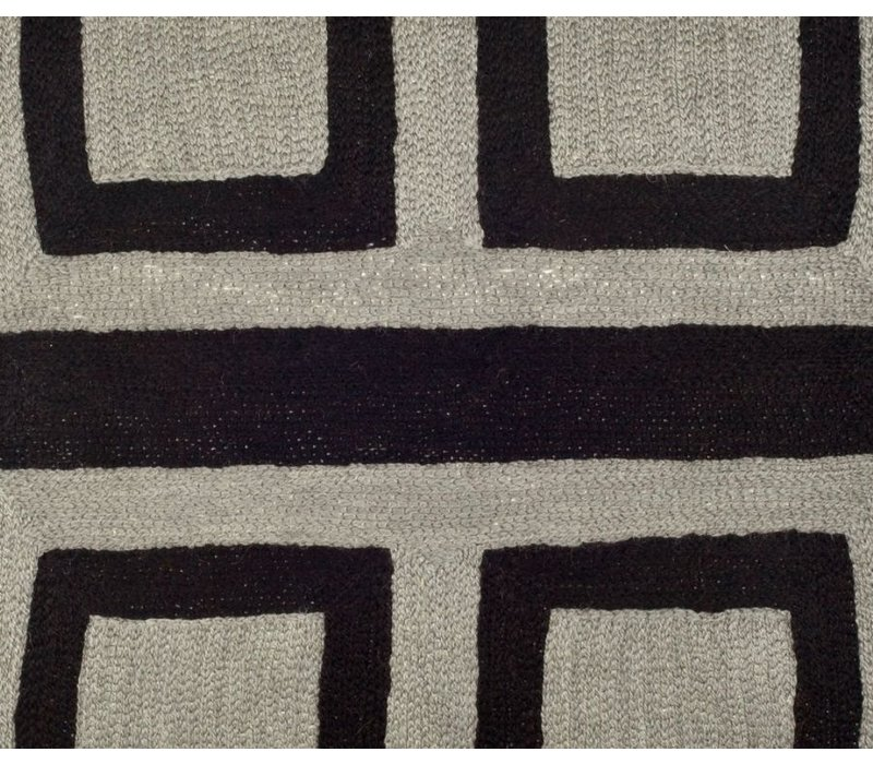 Cushion 'Bliss' colors Black & Grey