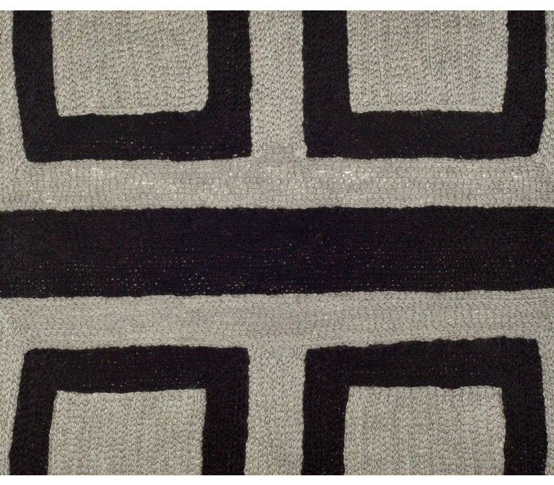 Sierkussen 'Bliss' kleur zwart & grijs