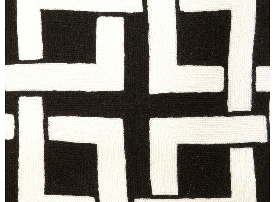 Sierkussen 'Blakes' kleur zwart