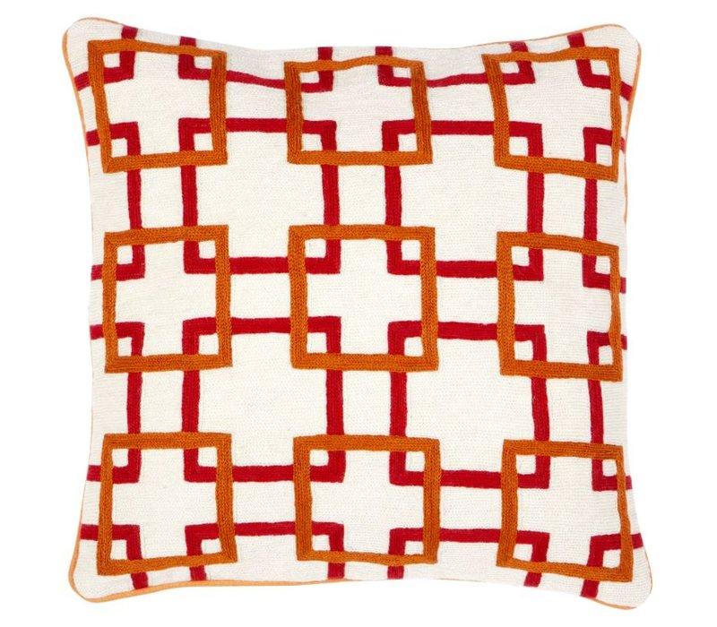 Cushion Bradburry color orange