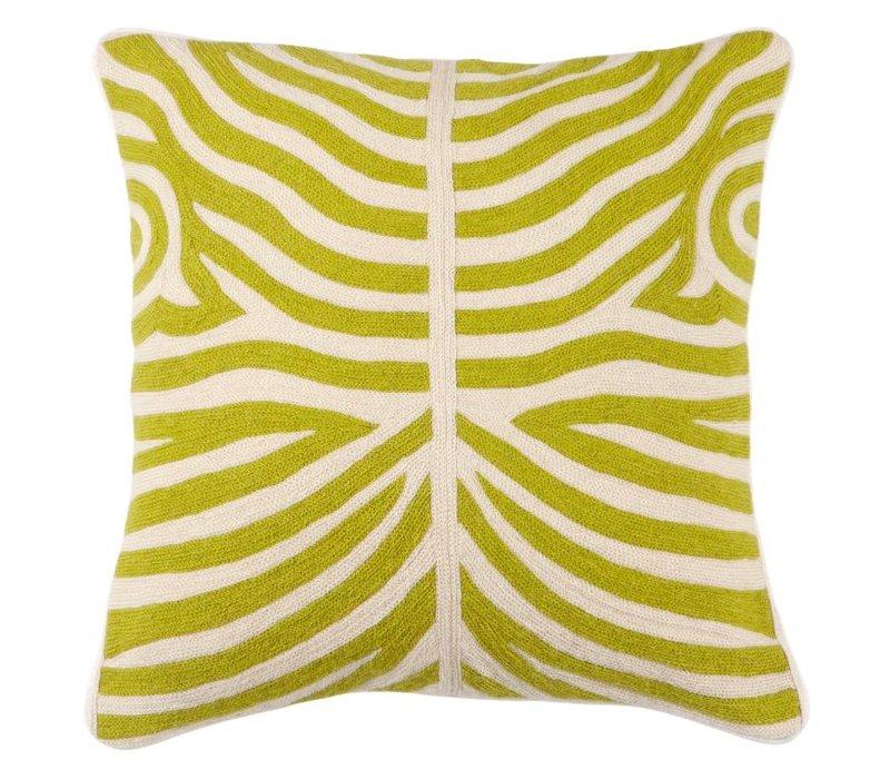 Cushion Zebra color Lime