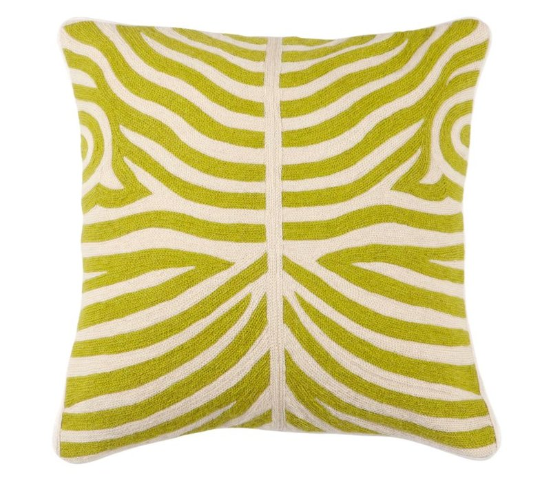 Sierkussen Zebra kleur Lime