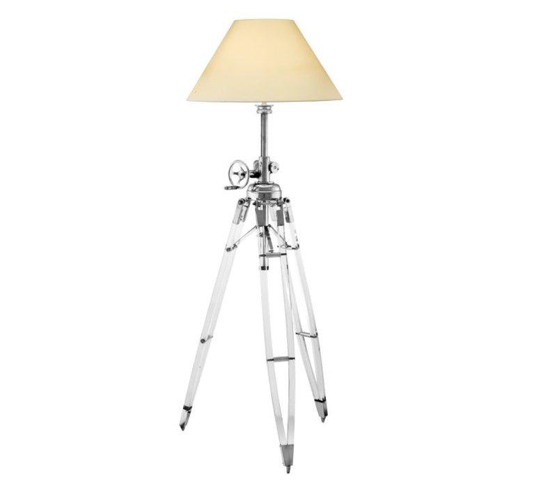 Driepoot lamp 'Royal Marine' cream verstelbaar in hoogte