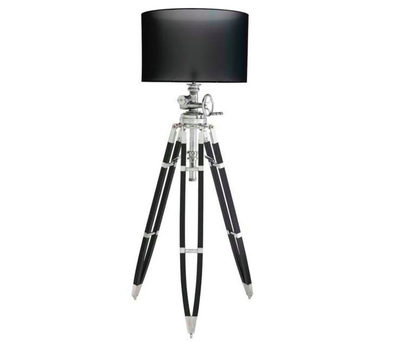 Driepoot lamp 'Royal Marine' black verstelbaar in hoogte